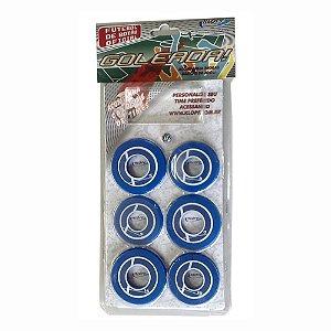 Jogo de Futebol de Botão Azul e Branco Klopf 4091