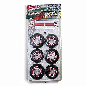 Jogo de Futebol de Botão Preto Vermelho e Branco Klopf 4095