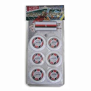 Jogo de Futebol de Botão Branco Preto e Vermelho Klopf 4097