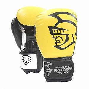 Luva de Boxe / Muay Thai Pretorian Elite Training 12 OZ Amarela e Preta