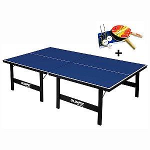 Mesa de Tênis de Mesa Ping Pong Olimpic 1005 MDP 15mm com Kit Completo
