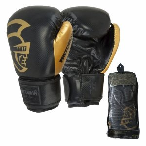 Luva de Boxe Muay Thai Pretorian Black Line Gold 16 OZ