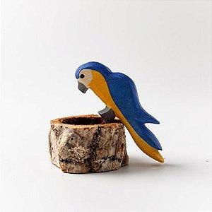 Arara Azul - NÃO ACOMPANHA tronco