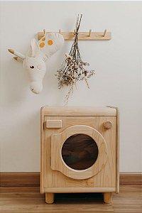 Lava roupa em madeira
