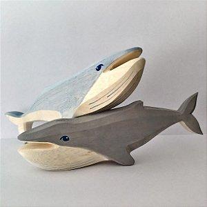 baleia jubarte - cinza ou azul clara