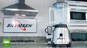 Liquidificador Skymsen LT-1,5-N 1,5L Inox Copo de Plástico Alta Rotação 220v