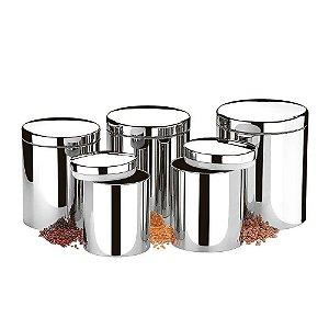 Conjunto de Potes p/ Mantimentos c/ 5 pçs - Brinox