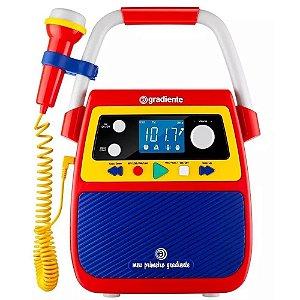 Rádio Portátil Gradiente Gmp104 Bluetooth Karaokê Branco Bivolt