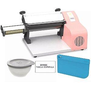 Cilindro Eletrico Para Massas 37cm Antiaderente Anodilar Rosa 127v