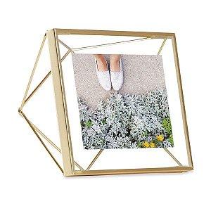 Porta Retrato Prisma Umbra 10x10cm - Dourado