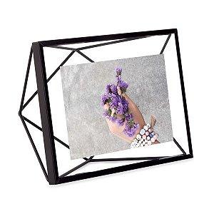 Porta Retrato Prisma Umbra 10x15cm - Preto