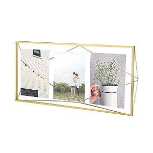 Porta Retrato Prisma Multi Fotos Umbra - Dourado