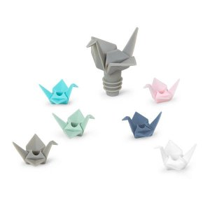 Kit com 6 Marcadores de Taça e 1 Tampa Origami Umbra - Sortidos