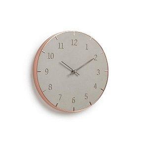 Relógio de Parede Piatto Umbra - Concreto
