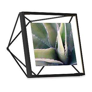 Porta Retrato Prisma Umbra 10x10cm - Preto