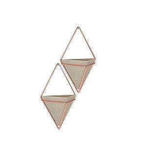 Vaso de Parede Multiuso Trigg Umbra Concreto - Kit com 2