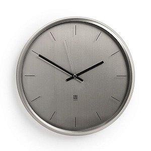 Relógio de Parede Meta Umbra - Prateado