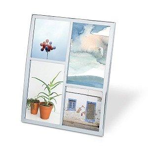 Porta Retrato Senza Multi Fotos Umbra - Prateado