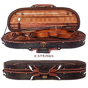 Estojo Violino 4/4 meia-lua Extraluxe