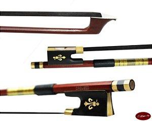Arco Violino 4/4  flor-de-liz | Crina branca/preta