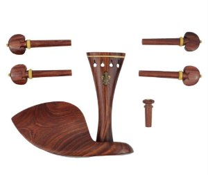 Kit de Montagem Violino 4/4 Rosewood flor-de-lis