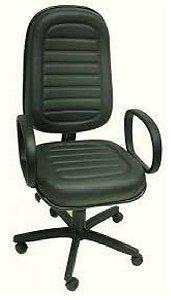Cadeira Presidente Com Costura Gomada Braço Corsa Espuma Injetada Base Giratória com Pistão a Gás