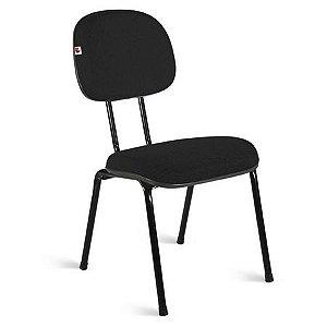 """Cadeira Fixa Secretária Pé Palito com """"L"""" Duplo Tubo Reforçado"""