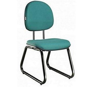 """Cadeira Executiva Pé Sky Com Espuma Injetada Base Fixa Fechada com """"L"""" Duplo"""