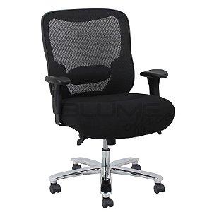 Cadeira Presidente Plus Size Luxo BLM 5130 P