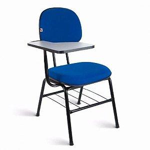 Cadeira universitária secretaria com prancheta fixa