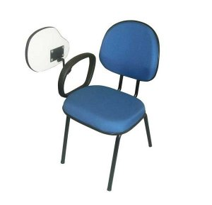 Cadeira universitária executiva com prancheta escamoteável