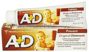 A+D Amarela - Pomada Preventiva de Assaduras em Bebês - 2 tamanhos