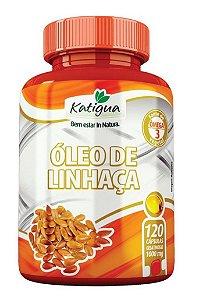 Óleo De Linhaça Dourada 1000mg -  120 Caps - Katigua