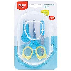 Kit Manicure com Tesoura + Lixa + Cortador com estojo - Buba Baby