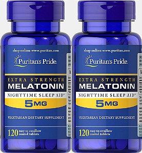 Melatonina Hormonio do Sono 3mg, 5mg e 10mg - Puritan's Pride