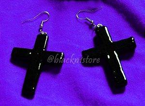 Brinco Black Cross