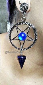 Brinco Satanic Blessing Pedra Estrela
