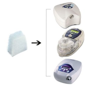 Kit 05 Filtros para CPAP e VPAP da linha S8 e C-Series Tango Resmed