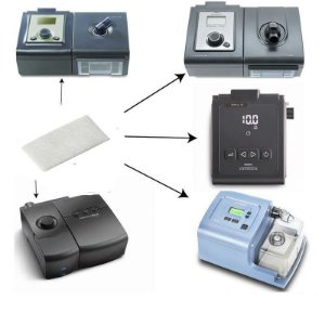 Kit 05 Filtros Ultrafino para CPAP e BiPAP Philips Respironics