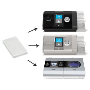 Kit 05 Filtros Ultrafino CPAP e VPAP S9, AirSense 10, VPAP AirCurve Resmed