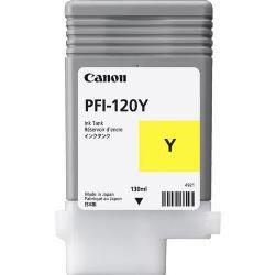 Original PFI-120Y Cartucho de Tinta Amarelo PFI 120Y 2888C001AA Canon 130ml