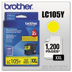 LC105Y - Cartucho Original Brother Amarelo Autonomia 1200Paginas