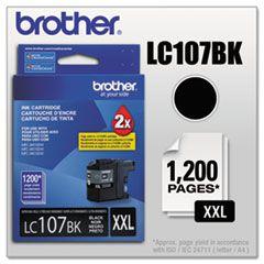 LC107BK - Cartucho Original Brother LC-107BK Preto 1.200Paginas aproximadamente em texto