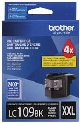 LC109BK - Cartucho Original Brother Preto Autonomia 2.400Paginas