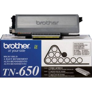 Original TN-650 Toner Brother Preto TN650 Autonomia 8.000Páginas