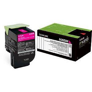 80C8SM0 Toner Original Lexmark 808SM Magenta 2.000Paginas aproximadamente em texto