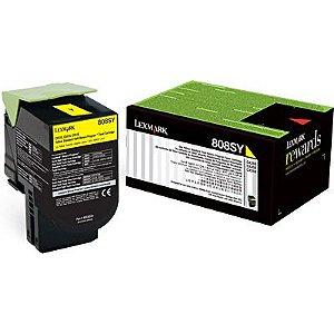 80C8SY0 Toner Original Lexmark 808SY Amarelo 2.000Paginas aproximadamente em texto