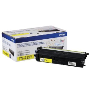 TN419Y - Toner Original Brother Amarelo - Autonomia 9.000Páginas
