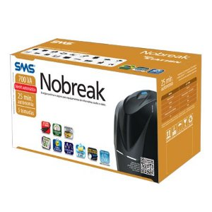 SMS 700va Nobreak SMS 27916 New Station UST700S Mono 25minutos