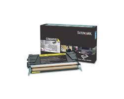 C748H1YG - Toner Original Lexmark Amarelo Autonomia 10.000Paginas